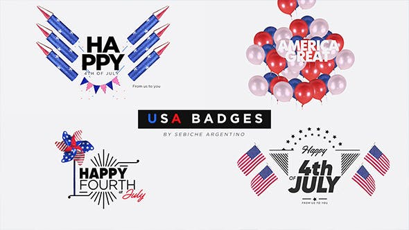 Thumbnail for USA Badges