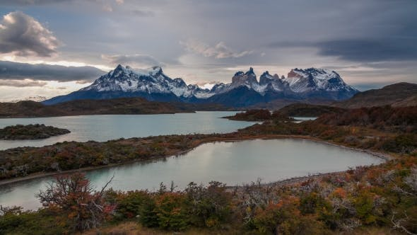 Thumbnail for Sunset Over the Lake Pehoe Parque Torres Del Paine, Patagonia, Chile