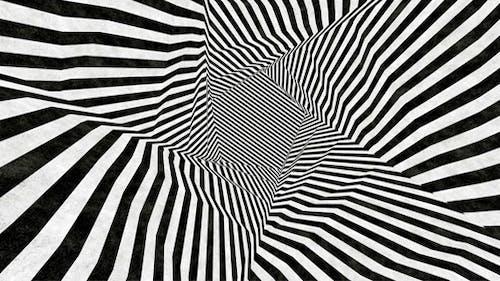 Illusion Black and White Stripes