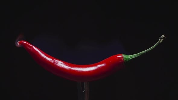 Thumbnail for Hot Red Pepper, Roast Peppers, Spicy Meals, Chineese Cuisine, Vegetarian Food, Salad with Vegetables