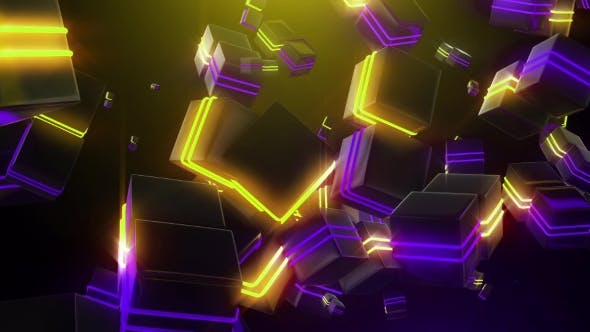 Thumbnail for Abstract Neon Squares