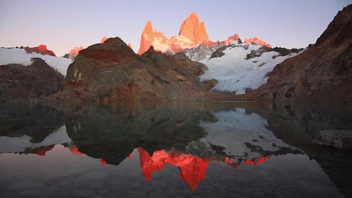 Laguna De Los Tres and Mount Fitz Roy in the Background, Patagonia, Argentina