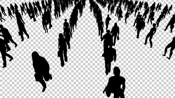 Thumbnail for People Walking Silhouettes
