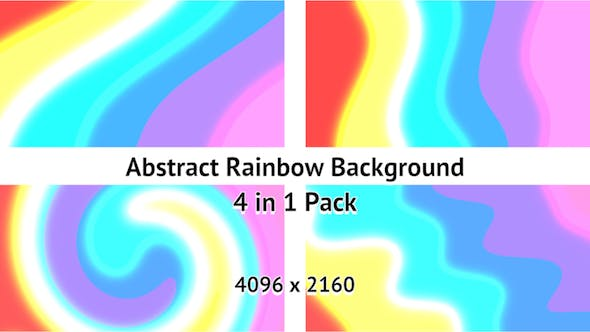 Thumbnail for 4K Abstract Rainbow Background Pack
