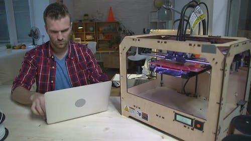 Modern Designer Creating 3d Objects