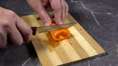 Cutting Of Paprika