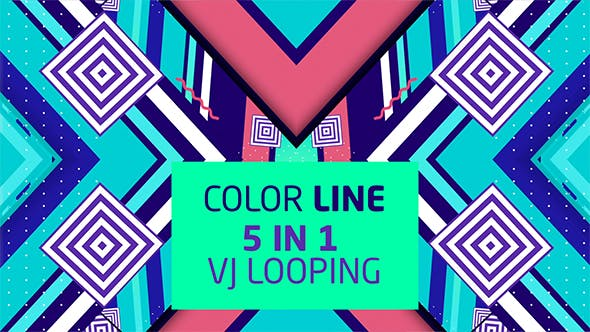 Thumbnail for Color Line 5 in 1 Vj Loops