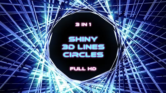 Thumbnail for Shiny 3d Lines Circle