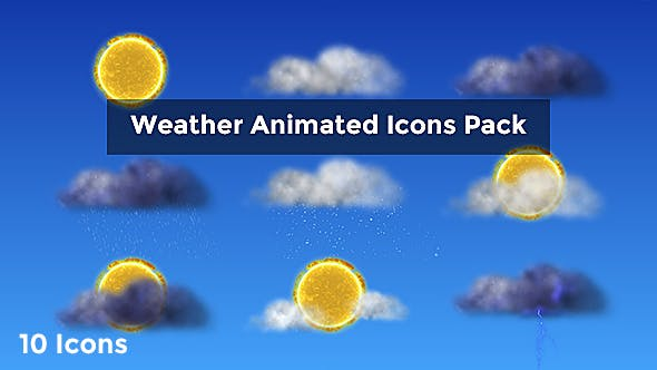Thumbnail for Weather Animated Icons Pack