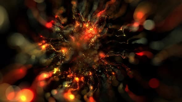 Thumbnail for Abstract Colorful Particles And Bokeh Flowing Seamless Loop