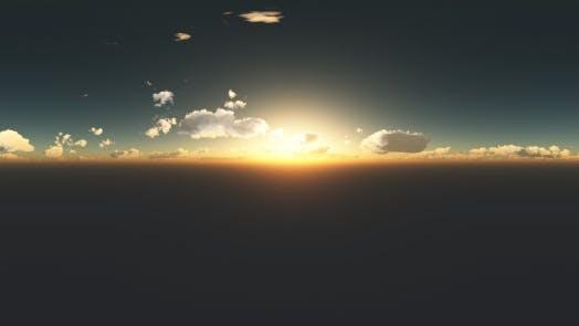 Thumbnail for Wolken bei Sonnenuntergang in Virtual Reality