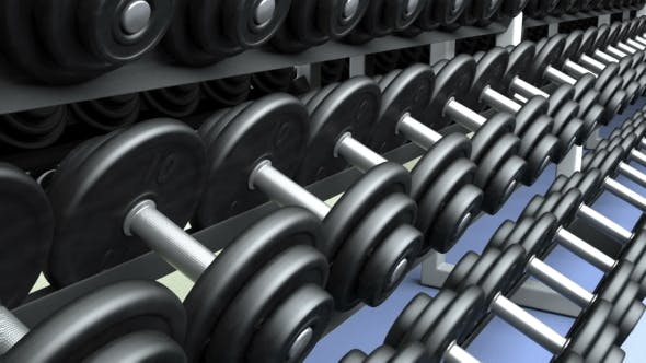 Cover Image for Dumbbells on a Rack, Loop