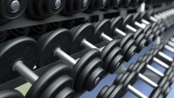 Cover Image for Dumbbells on a Rack, DOF, Loop