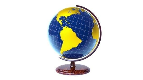 Thumbnail for Colorful Model of Earth Globe Rotating, Loop