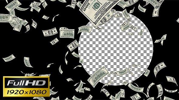 Thumbnail for Money Rain Loop Background