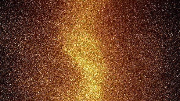Golden Energy Particles Background - Vertical