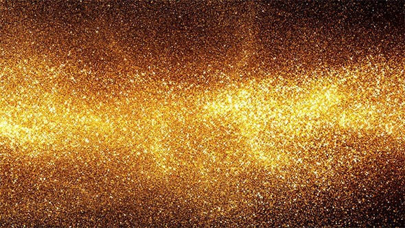 Thumbnail for Golden Energy Particles Background - Horizontal