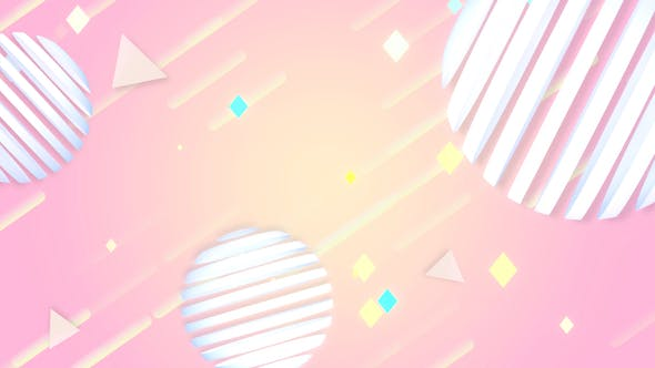 Thumbnail for 3D Abstract Geometric Shapes Background 2