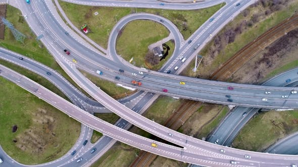 Cover Image for Aerial View of a Freeway Intersection