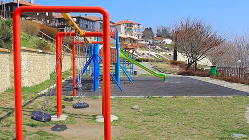 Playground With Swings