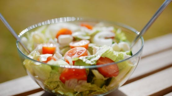 Thumbnail for Bowl of Fresh Mixed Green Salad