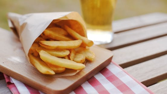 Thumbnail for Packet of Takeaway French Fries