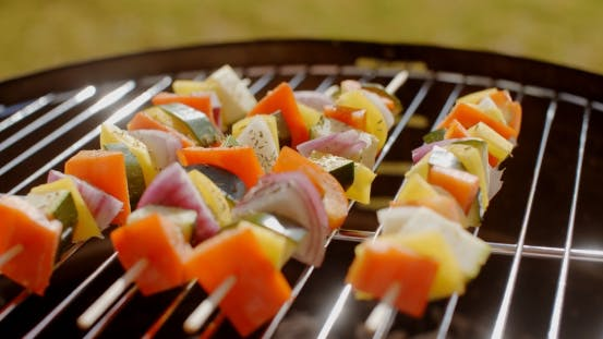 Thumbnail for Healthy Colorful Kebabs with Fresh Vegetables