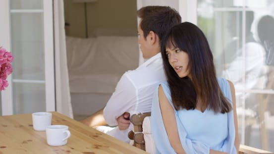 Thumbnail for Angry Mixed Race Couple Ignoring Each Other