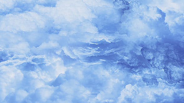 Thumbnail for Flying Through Blue Clouds Over the Mountains