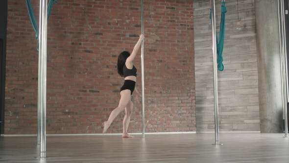 Thumbnail for Young Girl Training Pole Dance