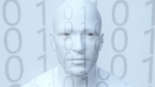 Представление гуманоидного Android робота искусственного интеллекта цифрового бессмертия