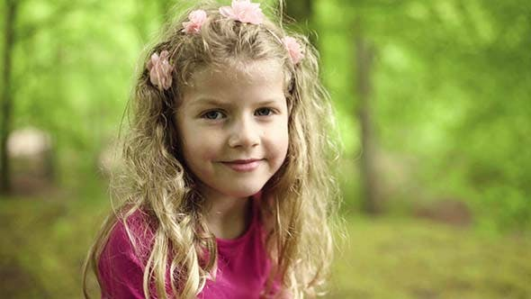 Cover Image for Portrait Of Smiling Little Girl