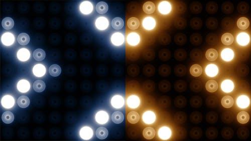 Blinkende Lichter Wand