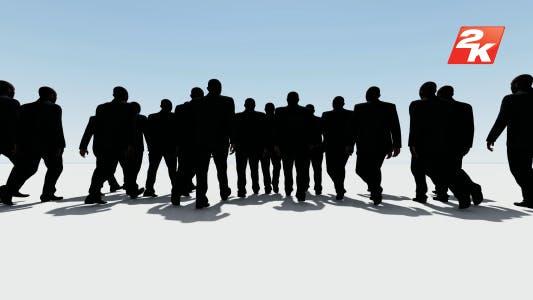 Walking Business Man