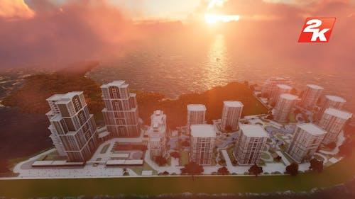 Island Building Aerial
