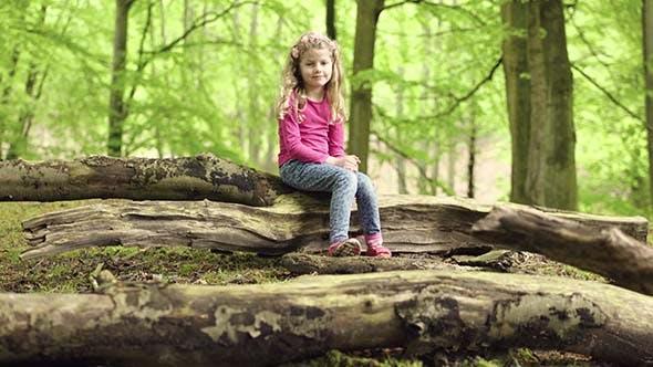 Thumbnail for Little Girl Walking In The Park