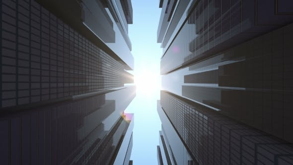 Cover Image for Beautiful Skyscrapers in a Business Center