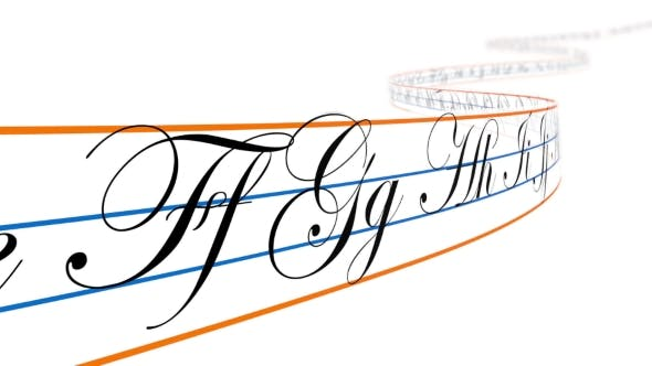 Cover Image for Alphabet Letters on Curved Tape