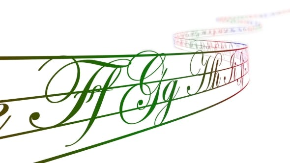 Thumbnail for Colored Alphabet Letters on Curved Tape