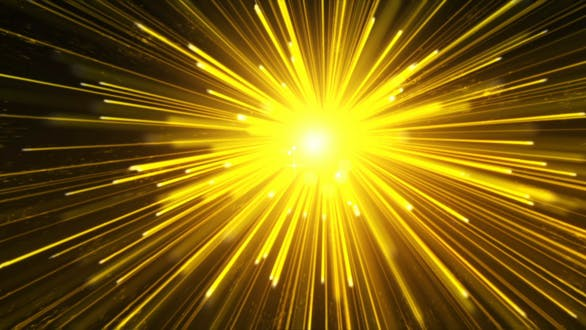 Yellow Particles Line Radiation Background