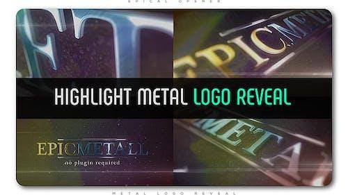 Highlight Metal Logo Reveal