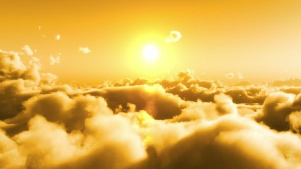 Cover Image for Flight Over Clouds, Yellow Sunset
