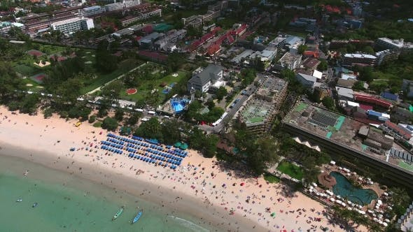 Thumbnail for Copter Moves Away From City and Kata Beach, Phuket