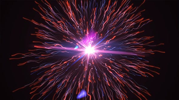 Thumbnail for Explosion Particle Light Background