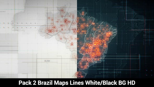 Thumbnail for Pack of 2 Brazil Maps with Lines Rollback Camera HD