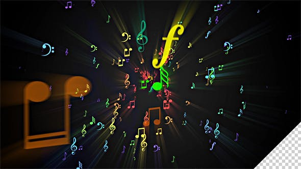 Thumbnail for Musical Note Symbols Background