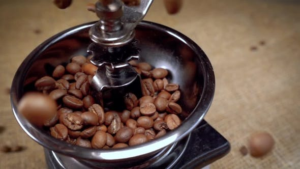 Cover Image for Coffee Beans Fall in the Old Grinder