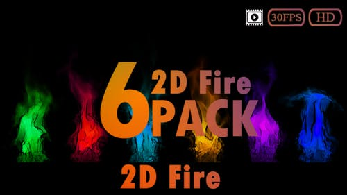 Fire 2D Pack (Toonshade)