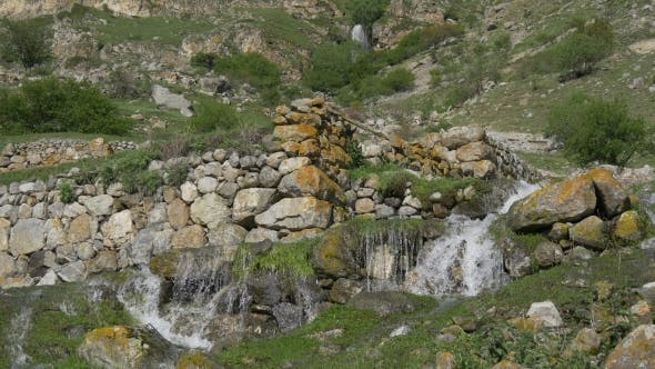 Spring Water Flow in Ancient City