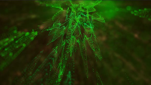 Thumbnail for Green Particles Background